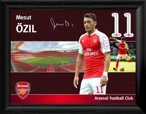 mesut ozil framed player profile