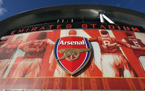 The new Arsenalisation banners in place around the stadium