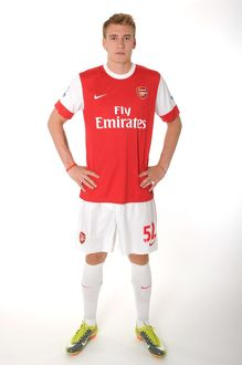 Nicklas Bendtner (Arsenal). Arsenal 1st Team Photocall and Membersday. Emirates Stadium