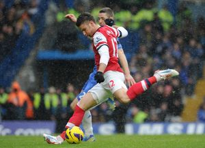 Olivier Giroud (Arsenal). Chelsea 2:1 Arsenal. Barclays Premier League. Stamford Bridge, 20/1/13
