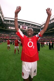 Patrick Vieira (Arsenal) celebrates after the match
