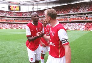 Patrick Vieira and Dennis Bergkamp (Arsenal)