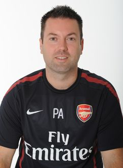 Paul Akers (Arsenal Kit Man). Arsenal 1st Team Photocall and Membersday