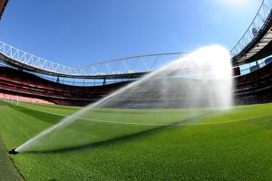 pitch watering arsenal 02 west ham united