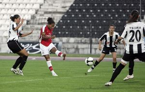 rachel yankey her and arsenals 1st goal