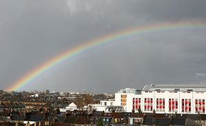 A Rainbow over Highbury Square photgraphed from Highbury House. 26/3/10