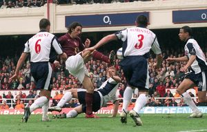 Robert Pires scores Arsenal's 2nd goal. Arsenal v West Bromwich Albion