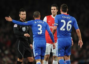 Robin van Persie (Arsenal) Ashley Cole and John Terry (Chelsea). Arsenal 3:1 Chelsea