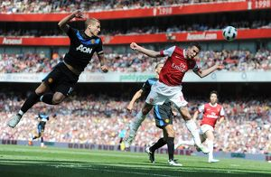robin van persie arsenal nemanja vidic man united arsenal