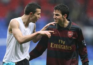 Robin van Persie and Cesc Fabregas (Arsenal) after the match
