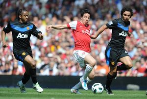 samir nasri arsenal fabio and anderson man united