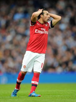 Santi Cazorla (Arsenal). Manchester City 1:1 Arsenal. Barclays Premier League
