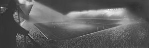 Second floodlit match at Highbury Stadium