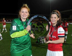 sophie harris and bianca bragg arsenal celebrate after