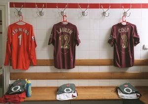 The Arsenal changing room. Arsenal 2:0 Newcastle United. FA Premier League