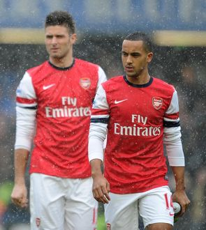 Theo Walcott (Arsena). Chelsea 2:1 Arsenal. Barclays Premier League. Stamford Bridge, 20/1/13