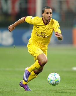 Theo Walcott (Arsenal). AC Milan 4:0 Arsenal. UEFA Champions League. First Knock Out Round 1st Leg
