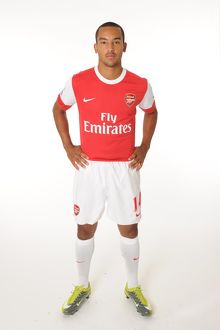 Theo Walcott (Arsenal). Arsenal 1st team Photocall and Membersday. Emirates Stadium