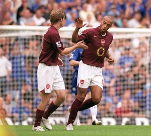Thierry Henry and Alex Hleb (Arsenal). Chelsea 1:0 Arsenal. FA Premier League
