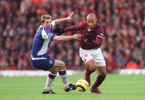 Thierry Henry (Arsenal) Andy Todd (Blackburn). Arsenal 3:0 Blackburn Rovers