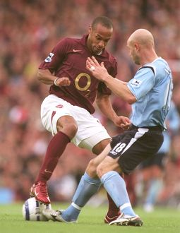 Thierry Henry (Arsenal) Danny Mills (Man City). Arsenal 1:0 Manchester City