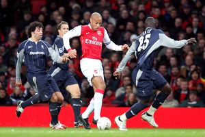 Thierry Henry (Arsenal) Ivan Campo and Abdoulaye Faye (Bolton)