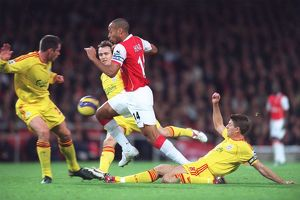 Thierry Henry (Arsenal) Jamie Carragher and Steven Gerrard (Liverpool)