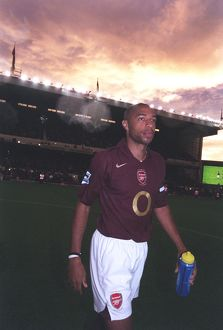 Thierry Henry (Arsenal) before the match. Arsenal 4:1 Fulham. FA Premier League