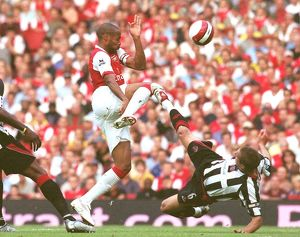 Thierry Henry (Arsenal) Phil Jagielka and Claude Davis (Sheff Utd)
