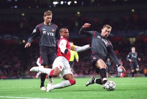 Thierry Henry (Arsenal) Sergei and Vasili Berezutskiy (CSKA)