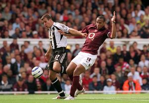 Thierry Henry (Arsenal) Steven Taylor (Newcastle). Arsenal 2:0 Newcastle United