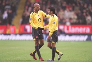 Thierry Henry and Jose Reyes (Arsenal). Charlton Athletic 0:1 Arsenal