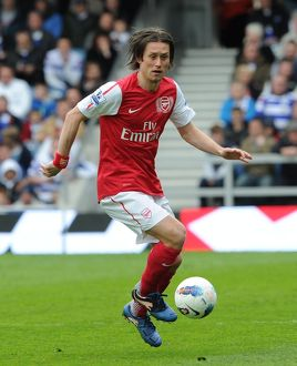 Tomas Rosicky (Arsenal). Queens Park Rangers 2:1 Arsenal. Barclays Premier League