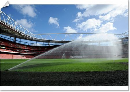emirates stadium pitch watered match arsenal 20 everton
