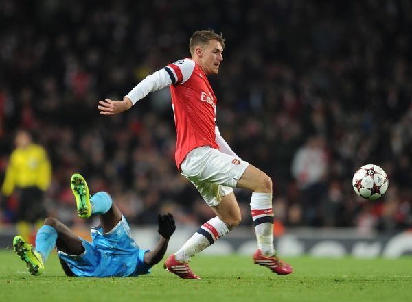 Aaron Ramsey (Arsenal). Arsenal 2:0 Olympic Marseille. UEFA Champions League. Group F