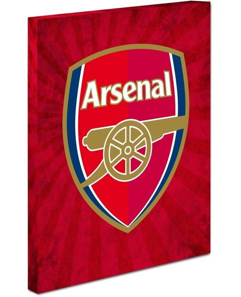 Arsenal Crest Canvas (red flare design)