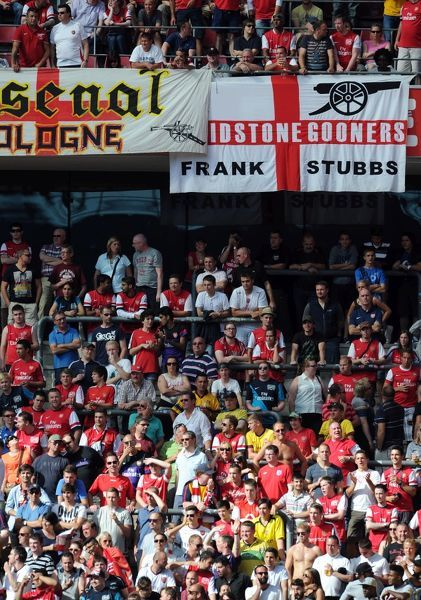 Arsenal fans. Cologne 0:4 Arsenal. Pre Season Friendly. Rhein Energie Stadium
