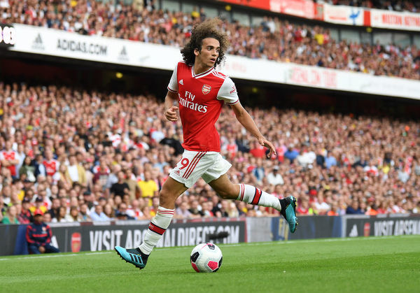 LONDON, ENGLAND - SEPTEMBER 01: Matteo Guendouzi of Arsenal during the Premier League match between Arsenal FC and Tottenham Hotspur at Emirates Stadium on September 01, 2019 in London, United Kingdom