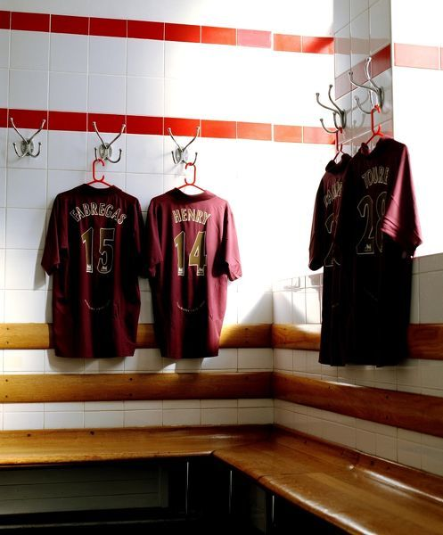 arsenal home team changinroom arsenal stadium