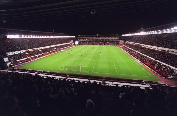 arsenal stadium photographed north bank stand
