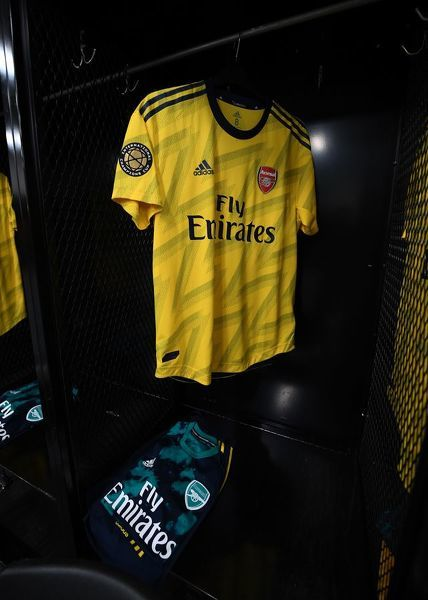 CHARLOTTE, NORTH CAROLINA - JULY 20: The Arsenal shirt in the changingroom before the match between Arsenal and Fiorentina at Bank of America Stadium on July 20, 2019 in Charlotte, North Carolina. (Photo by David Price/Arsenal FC via Getty Images)