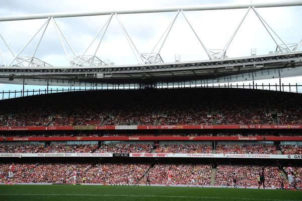 LONDON, ENGLAND - AUGUST 2: A general view of Emirates Stadium during the match between Arsenal and Benfica on August 2, 2014 in London, England. (Photo by Stuart MacFarlane/Arsenal FC via Getty Images)