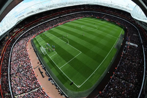 LONDON, ENGLAND - APRIL 21: Emirates Stadium during the Barclays Premier League match between Arsenal and Chelsea on April 21, 2012 in London, England. (Photo by Stuart MacFarlane/Arsenal FC via Getty Images)