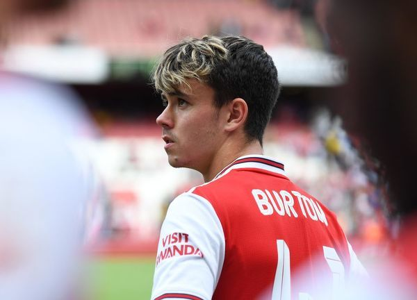 LONDON, ENGLAND - JULY 28: Robbie Burton of Arsenal after the match between Arsenal and Olympique Lyonnais at Emirates Stadium on July 28, 2019 in London, England. (Photo by David Price/Arsenal FC via Getty Images)