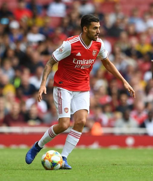 LONDON, ENGLAND - JULY 28: Dani Ceballos of Arsenal during the match between Arsenal and Olympique Lyonnais at Emirates Stadium on July 28, 2019 in London, England. (Photo by David Price/Arsenal FC via Getty Images)