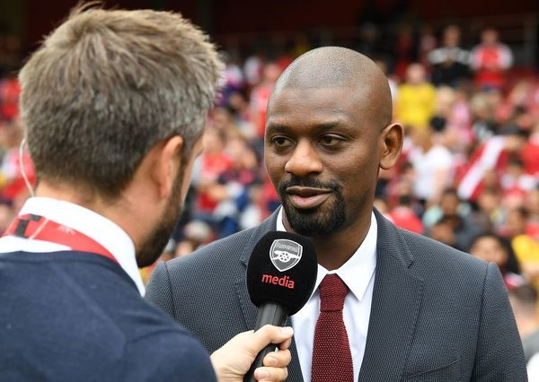 LONDON, ENGLAND - JULY 28: Abou Diaby ex Arsenal during the match between Arsenal and Olympique Lyonnais at Emirates Stadium on July 28, 2019 in London, England. (Photo by David Price/Arsenal FC via Getty Images)