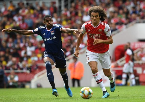 LONDON, ENGLAND - JULY 28: Matteo Guendouzi of Arsenal during the match between Arsenal and Olympique Lyonnais at Emirates Stadium on July 28, 2019 in London, England. (Photo by David Price/Arsenal FC via Getty Images)