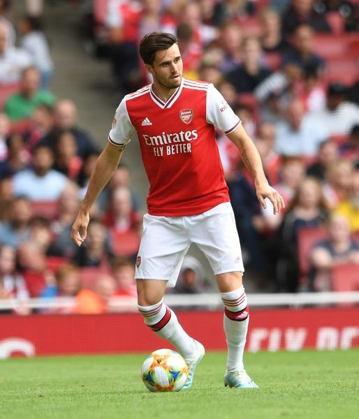 LONDON, ENGLAND - JULY 28: Carl Jenkinson of Arsenal during the match between Arsenal and Olympique Lyonnais at Emirates Stadium on July 28, 2019 in London, England. (Photo by David Price/Arsenal FC via Getty Images)