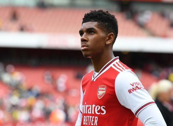 LONDON, ENGLAND - JULY 28: Tyreece John-Jules of Arsenal after the match between Arsenal and Olympique Lyonnais at Emirates Stadium on July 28, 2019 in London, England. (Photo by David Price/Arsenal FC via Getty Images)