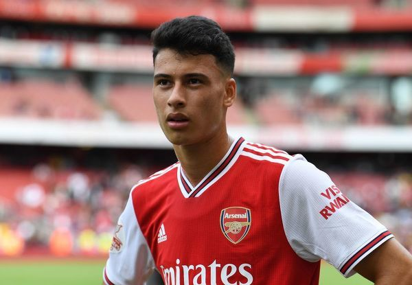LONDON, ENGLAND - JULY 28: Gabriel Martinelli of Arsenal after the match between Arsenal and Olympique Lyonnais at Emirates Stadium on July 28, 2019 in London, England. (Photo by David Price/Arsenal FC via Getty Images)